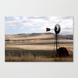 Rural Landscape of Rolling Hills in Australia Canvas Print