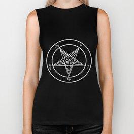 Baphomet Vest Satan Devil Devil Anti Christ Witch Gothic Atheist T-Shirts Biker Tank