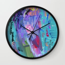 Love Interlude Abstract Wall Clock