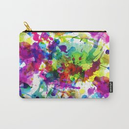 Brightly Colored Paint Splatters Carry-All Pouch