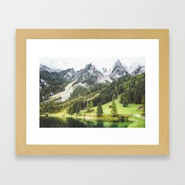 Alps in Austria. Framed Art Print
