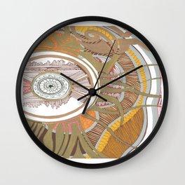 Golden Compass Wall Clock