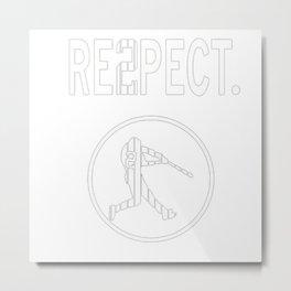 derek Jeter Respect Metal Print