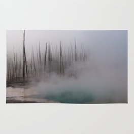 Steamy Hot Spring in Yellowstone Rug