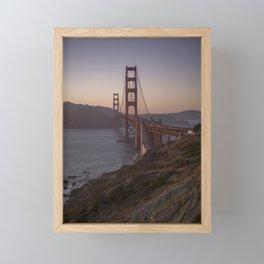 Golden Gate Bridge at Sunset Framed Mini Art Print