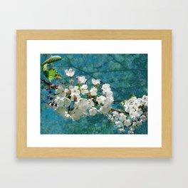 Blossom Textured Framed Art Print