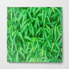 Sea of Green Leaves Metal Print