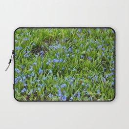Blue Flowers 2 Laptop Sleeve