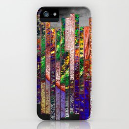 wall of bricks iPhone Case