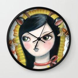 Dear Girl Saint by CJ Metzger Wall Clock