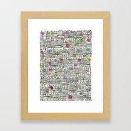Parisian Cityscape Framed Art Print