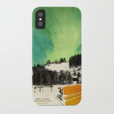 Dont Forget Northern Lights Slim Case iPhone X