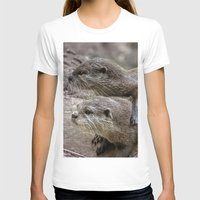 otters T-shirts featuring My Girl by Paul & Fe Photography