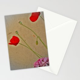 as cardboard poppies Stationery Cards