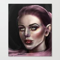 fairy Canvas Prints featuring Fairy by Lily Fitch