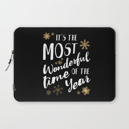 It's the Most Wonderful Time of the Year - Black Laptop Sleeve