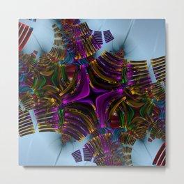 Abstract metallic Metal Print