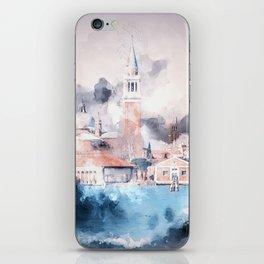 Venezia watercolour iPhone Skin