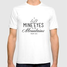 The Mountains Mens Fitted Tee White MEDIUM