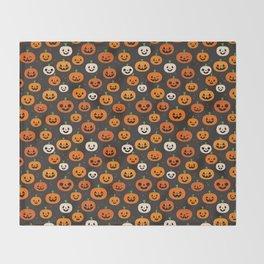 Jack-o-lanterns Throw Blanket