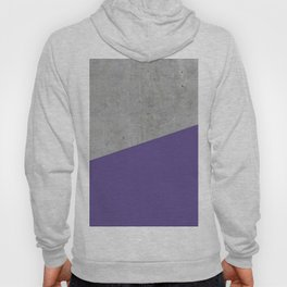 Concrete with Ultra Violet Color Hoody