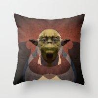 yoda Throw Pillows featuring Yoda by lazylaves