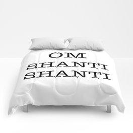 OM SHANTI SHANTI Comforters