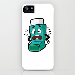 I SUCK AT BREATHING Inhaler Inhale Wheeze Sports iPhone Case