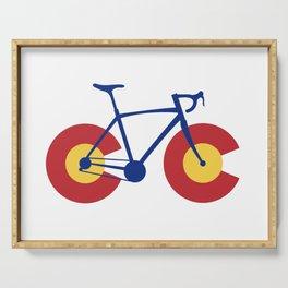 Colorado Flag Bicycle Serving Tray