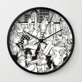 Commuters Wall Clock