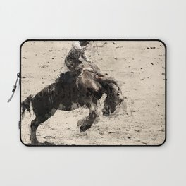 Hanging On - Bronco Busting Champ Laptop Sleeve