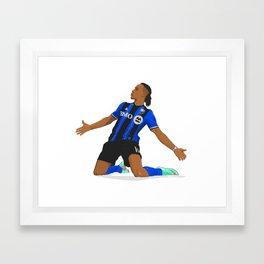 Didier Drogba Celebration Framed Art Print