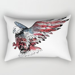 Watercolor bald eagle symbol of the United States Rectangular Pillow