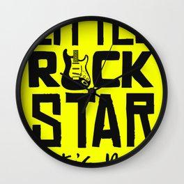Little Rock Star - Lets Rock Wall Clock