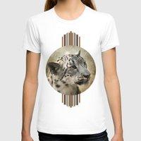 snow leopard T-shirts featuring Snow Leopard by Jai Johnson