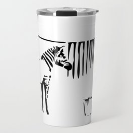 Banksy, A Woman Washing Zebra Stripes Artwork Reproduction, Posters, Tshirts, Prints Travel Mug