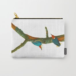Turquoise Bird Carry-All Pouch