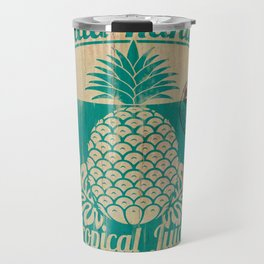 Hala Kahiki Juice Stand wooden board. Travel Mug