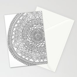 Accepting on White Background Stationery Cards