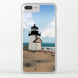 Brant Point Light Clear iPhone Case