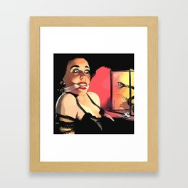 Snake Eyes Framed Art Print