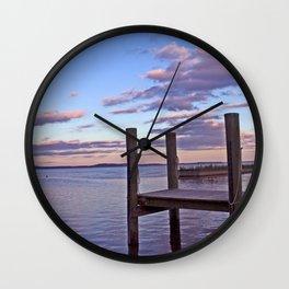Pier Pink Wall Clock