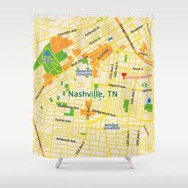 Map of Nashville, TN Shower Curtain