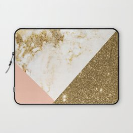 Gold marble collage Laptop Sleeve