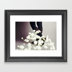 Warm Snow Framed Art Print