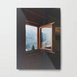 Dolomite Cabin Metal Print