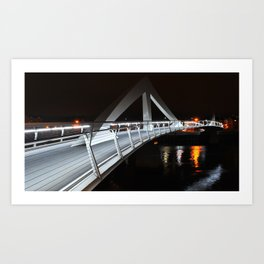 Tradestone Bridge, Glasgow Art Print