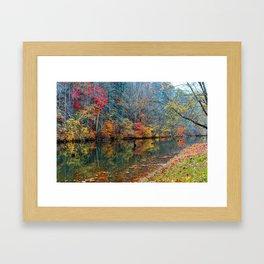 Fall Reflection, Falls Mills, West Virginia Framed Art Print