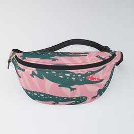 Alligator Collection – Pink & Teal Fanny Pack