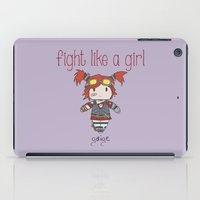 borderlands iPad Cases featuring Fight Like a Girl - Borderlands 2 ~ Gaige by ~ isa ~